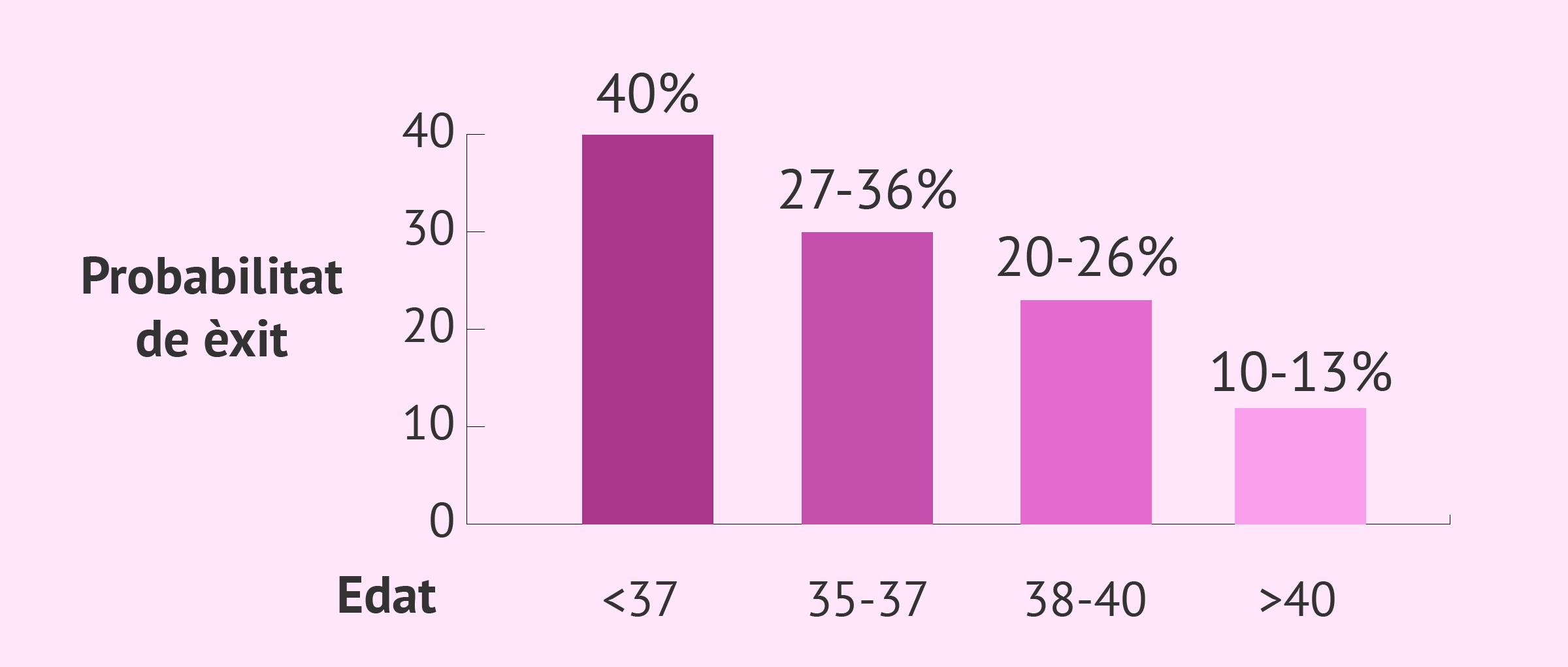 Taxes d'èxit de la fecundació in vitro